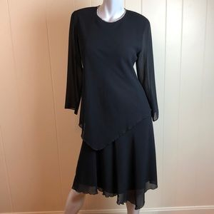 Vintage 80s/90s Black Holiday Party Dress